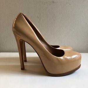 Pour La Victoire Irina Camel Patent Heels 6.5